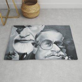 Sigmund Freud and Carl Jung Rug