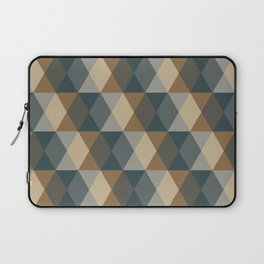 Caffeination Geometric Hexagonal Repeat Pattern Laptop Sleeve