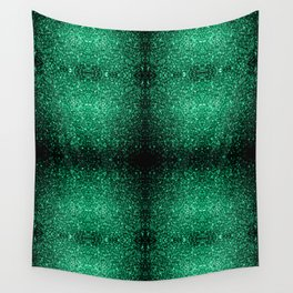 Beautiful Emerald Green glitter sparkles Wall Tapestry