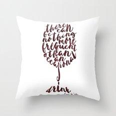 Drink - Oscar Wilde Throw Pillow
