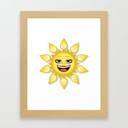Smiling sun Framed Art Print