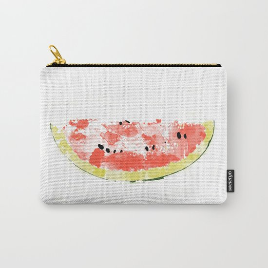 Watermelon Watercolor Carry-All Pouch