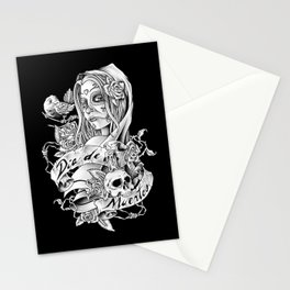 Dia de los Muertos (Black) Stationery Cards