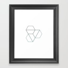 #518 Torsion – Geometry Daily Framed Art Print