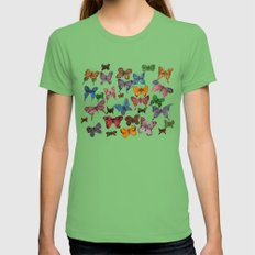 Lepidoptera LARGE Grass Womens Fitted Tee