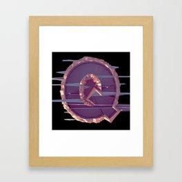 Letter Series: Q Framed Art Print