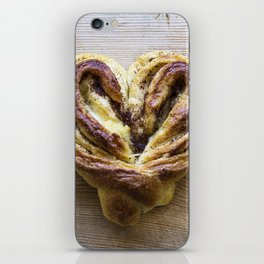 Cinnamon Bun Heart iPhone Skin