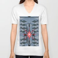 office V-neck T-shirts featuring Star office by Cozmic Photos