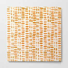 Abstract rectangles - orange Metal Print