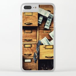 Filing System Clear iPhone Case