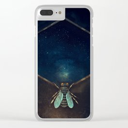 Bee Universe Clear iPhone Case