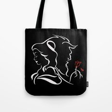 Beauty And Beast BW Tote Bag