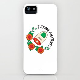 The Big Lebowski T-shirt: Fucking amateurs iPhone Case