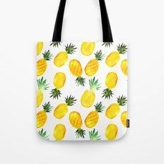 Pineapple vibes || watercolor Tote Bag