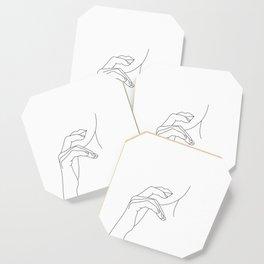 Hands line drawing illustration - Grace Coaster