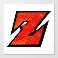 dbz Canvas Prints featuring DBZ by Bradley Bailey