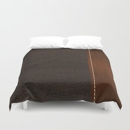Brown leather look #1 Duvet Cover