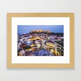Athens Cityscape Fine Art Print Framed Art Print
