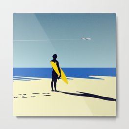 The surfer and the sea Metal Print