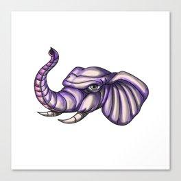 Elephant Head Trunk Tattoo Canvas Print