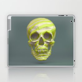 Yellow pop candy skull 3D render. Laptop & iPad Skin