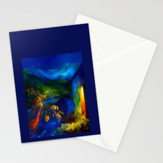 Landscape with a patch of a shawl Stationery Cards