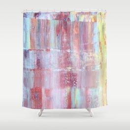 Rainbow Abstract Art Shower Curtain