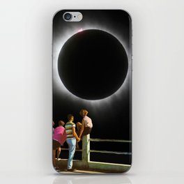 Watching the eclipse iPhone Skin