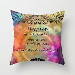 Zen Art Inspirational Buddha Quotes  Throw Pillow
