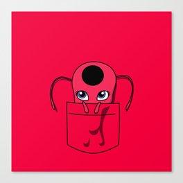 Tikki Pocket Tee Canvas Print