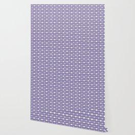 Dots Stripes Ultraviolet Wallpaper