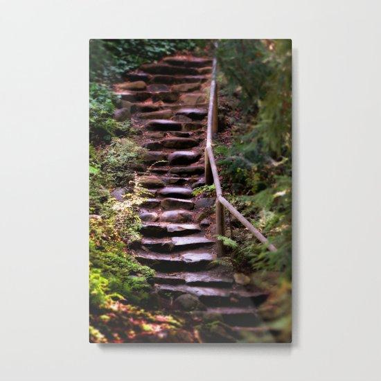 Old Wet Stone Steps Metal Print
