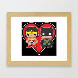 WW and BM in Love Framed Art Print
