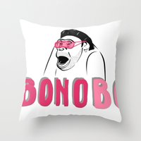 u2 Throw Pillows featuring BONObo by Adrienne S. Price