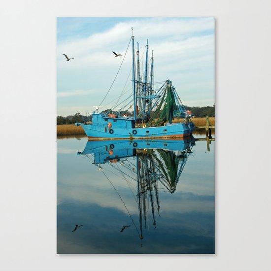Boat Reflection Canvas Print