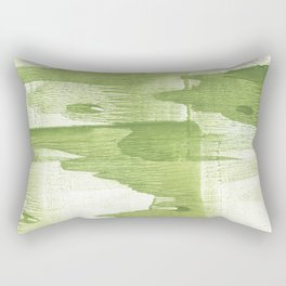 Green stained watercolor design Rectangular Pillow