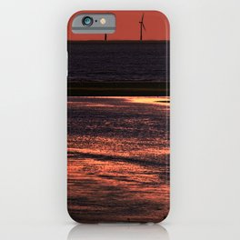 River Alt and the wind farm iPhone Case