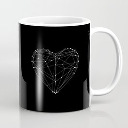 Polygon Love Heart modern black and white minimalist home room wall decor canvas Coffee Mug