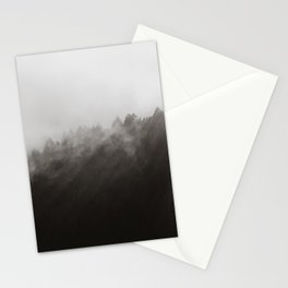 Forest Fog Black and White Stationery Cards