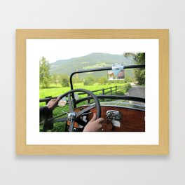 Driving around Italy Framed Art Print