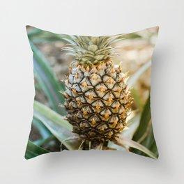 Tropical Pineapple | Tropical Nature Macro Photography Throw Pillow