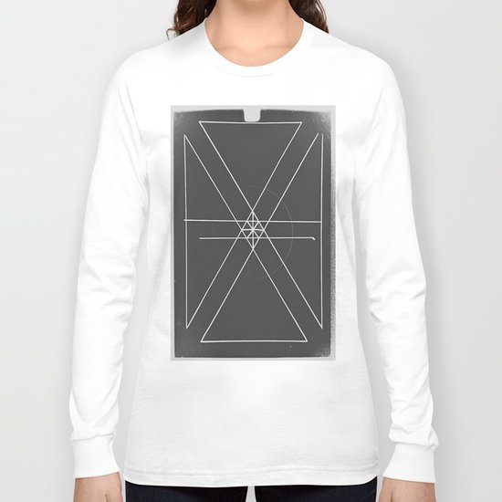 Gray Lines and Crossings Long Sleeve T-shirt