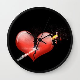 Heartbomb Wall Clock