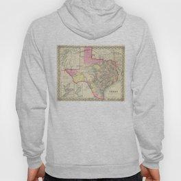 Vintage Map of Texas (1856) Hoody
