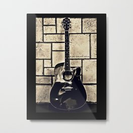 Be Your Song and Rock On in Black Metal Print