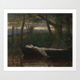 Walter Crane - The Lady of Shalott Art Print