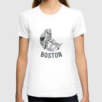 boston T-shirts featuring Boston by Sophie Calhoun