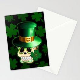 St Patrick Skull Cartoon  Stationery Cards