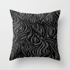 Back to Gray 1 Throw Pillow