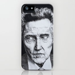 Portrait of Christopher Walken iPhone Case